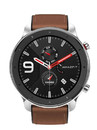 Умные часы Amazfit GTR 47 mm Stainless Steel case, leather strap