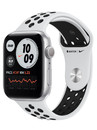 Apple Watch Series 6 GPS 44mm Aluminum Case with Nike Sport Band Space (серебристый/чистая платина/черный) MG293